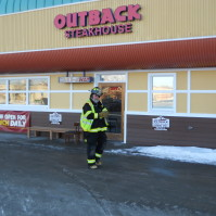 North Bailey Handles Fire at Outback Steakhouse